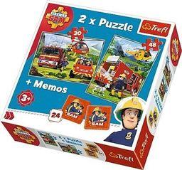 Trefl Puzzle 2w1 + memos Strażacy w akcji
