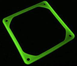 SilverStone Podkładka antywibracyjna pod wentylator 92mm UV zielona (FS-92-G)