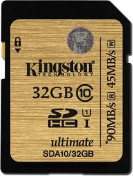Karta pamięci Kingston SD 32GB Class 10 (SDA10/32GB)