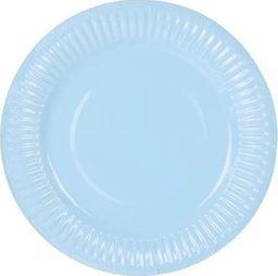 Party Deco Talerzyki papierowe, jasnobłękitne, 18 cm, 6 szt. uniwersalny