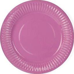 Party Deco Talerzyki papierowe, różowe, 18 cm, 6 szt. uniwersalny
