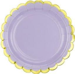 Party Deco Talerzyki Yummy, jasny liliowy, 18cm, 6 szt. uniwersalny