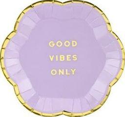 Party Deco Talerzyki Yummy - Good Vibes Only, jasny liliowy, 13cm, 6 szt. uniwersalny