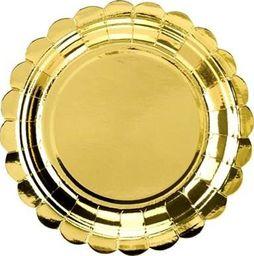 Party Deco Talerzyki papierowe, złote, 18 cm, 6 szt. uniwersalny