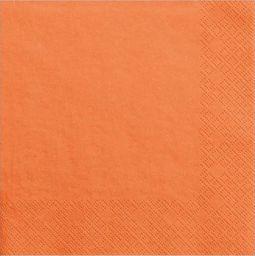 Party Deco Serwetki papierowe, pomarańczowe, 33x33 cm., 20 szt. uniwersalny