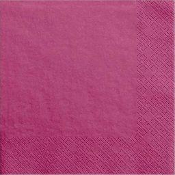 Party Deco Serwetki papierowe, ciemny róż, 33x33 cm., 20 szt. uniwersalny