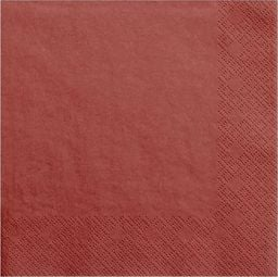 Party Deco Serwetki papierowe, czerwone, 33x33 cm., 20 szt. uniwersalny