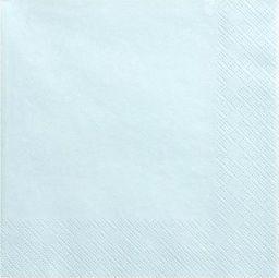 Party Deco Serwetki papierowe, jasny błękit, 33x33 cm., 20 szt. uniwersalny