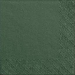 Party Deco Serwetki papierowe, butelkowa zieleń, 33x33 cm., 20 szt. uniwersalny