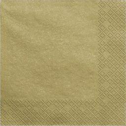 Party Deco Serwetki papierowe, złoty metalizowany, 33x33 cm., 20 szt. uniwersalny