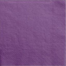 Party Deco Serwetki papierowe, jasna purpura, 33x33 cm., 20 szt. uniwersalny