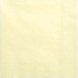Party Deco Serwetki papierowe, jasnokremowe, 33x33 cm., 20 szt. uniwersalny