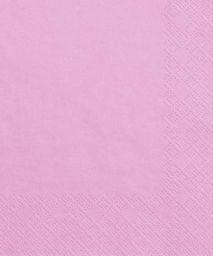 Party Deco Serwetki papierowe, różowe, 33x33 cm., 20 szt. uniwersalny