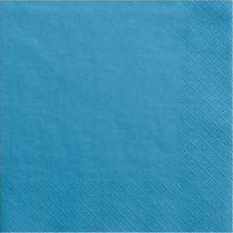 Party Deco Serwetki papierowe, niebieskie, 33x33 cm., 20 szt. uniwersalny