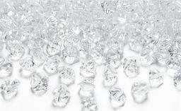 Party Deco Konfetti kryształowy lód, bezbarwny, 14x11 mm, 40 szt. uniwersalny