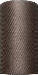 Party Deco Tiul dekoracyjny gładki, brązowy, 0,08x20 m. uniwersalny