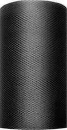 Party Deco Tiul dekoracyjny gładki, czarny, 0,08x20 m. uniwersalny
