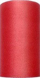 Party Deco Tiul dekoracyjny gładki, czerwony, 0,08x20 m. uniwersalny