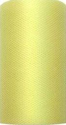 Party Deco Tiul dekoracyjny gładki, jasny żółty, 0,08x20 m. uniwersalny