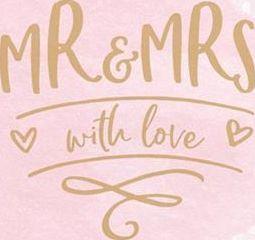 Party Deco Serwetki papierowe Mr & Mrs, 33x33cm uniwersalny