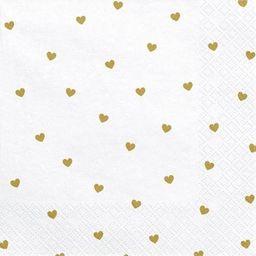 Party Deco Serwetki Serca, biały, 33x33cm uniwersalny