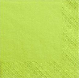 Party Deco Serwetki papierowe, zielone jabłuszko, 33x33 cm., 20 szt. uniwersalny