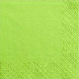 Party Deco Serwetki papierowe, jasna zieleń, 33x33 cm., 20 szt. uniwersalny