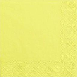 Party Deco Serwetki papierowe, żółte, 33x33 cm., 20 szt. uniwersalny