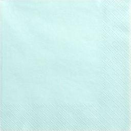 Party Deco Serwetki papierowe, blady turkus, 33x33 cm., 20 szt. uniwersalny