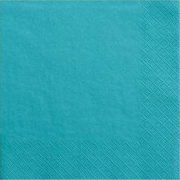 Party Deco Serwetki papierowe, turkusowe, 33x33 cm., 20 szt. uniwersalny