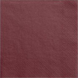 Party Deco Serwetki papierowe, bordowe, 33x33 cm., 20 szt. uniwersalny