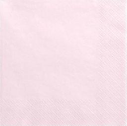 Party Deco Serwetki papierowe, jasny pudrowy róż, 33x33 cm., 20 szt. uniwersalny