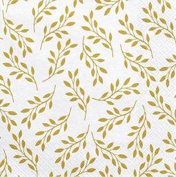 Party Deco Serwetki papierowe, Gałązki, białe, 33x33 cm., 20 szt. uniwersalny