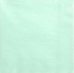 Party Deco Serwetki papierowe, miętowe, 33x33 cm., 20 szt. uniwersalny
