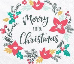 Serwetki papierowe świąteczne Merry Little Christmas, 20 szt. uniwersalny