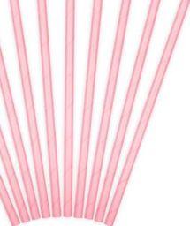 Party Deco Słomki papierowe do picia, jasnoróżowe, 19,5 cm, 10 szt. uniwersalny
