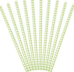 Party Deco Słomki papierowe do picia, wzór karo, zielone jabłuszko, 19,5 cm, 10 szt. uniwersalny