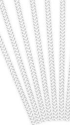 Party Deco Słomki papierowe do picia ze wzorem chevron, srebrne, 19,5cm, 10 szt. uniwersalny
