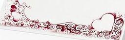 Party Deco Wizytówki na stół białe z bordowym wzorem,  10x4 cm, 25 szt. uniwersalny