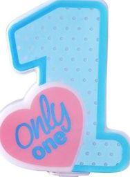 Party Deco Świeczka urodzinowa Only One, błękitna uniwersalny