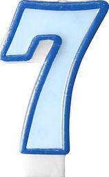 Party Deco Świeczka urodzinowa Cyferka 7, niebieska uniwersalny