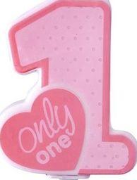 Party Deco Świeczka urodzinowa Only One, j. różowa uniwersalny