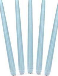 Party Deco Świeca stożkowa, matowa, błękitna, 24 cm, 10 szt. uniwersalny