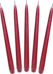 Party Deco Świeca stożkowa, matowa, czerwona, 24 cm, 10 szt. uniwersalny
