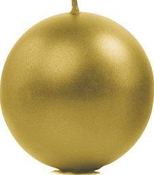 Party Deco Świeca kula, metaliczna, złota, 10 cm, 6 szt. uniwersalny
