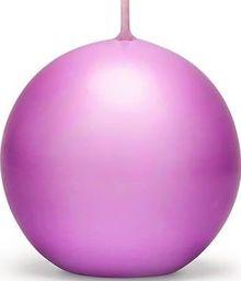Party Deco Świeca kula, matowa, winogronowa, 8 cm, 6 szt. uniwersalny