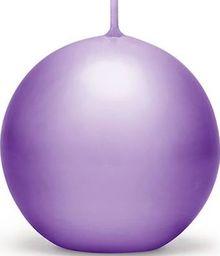 Party Deco Świeca kula, matowa, śliwkowa, 8 cm, 6 szt. uniwersalny