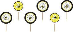 Party Deco Topper Pszczółka, 9,2 cm, 6 szt. uniwersalny