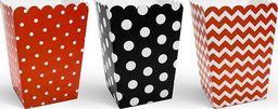 Party Deco Pudełka na popcorn Biedronka, mix wzorów, 7,5x7,5x12,5 cm. 6 szt uniwersalny