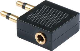 Adapter AV LINDY Lindy 35626 Przejściówka audio do samolotu (gn. mini jack stereo 3,5mm- wt. 2 x jack mono 3.5mm)